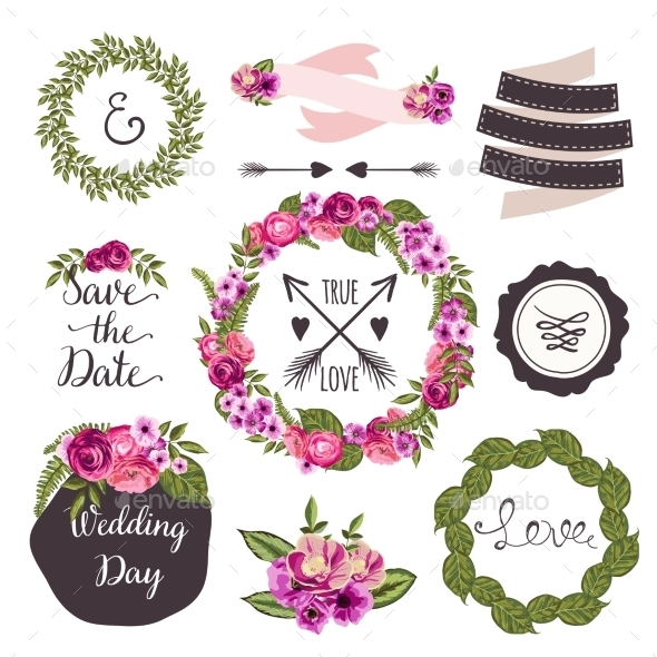GraphicRiver Wedding Collection Elements 10734045