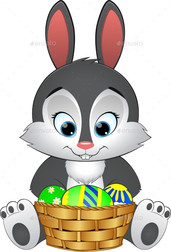 GraphicRiver Easter Bunny with Basket 10734159