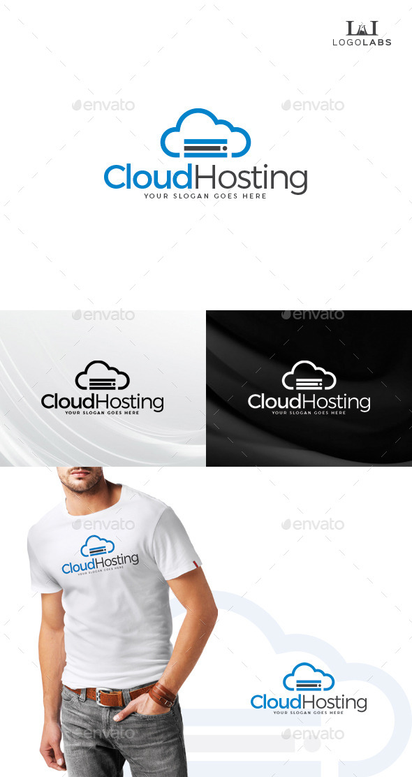 GraphicRiver Cloud Hosting Logo 10734187