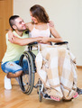 Happy couple with disabled spouse - PhotoDune Item for Sale