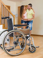 Caregiver helps handicapped girl - PhotoDune Item for Sale