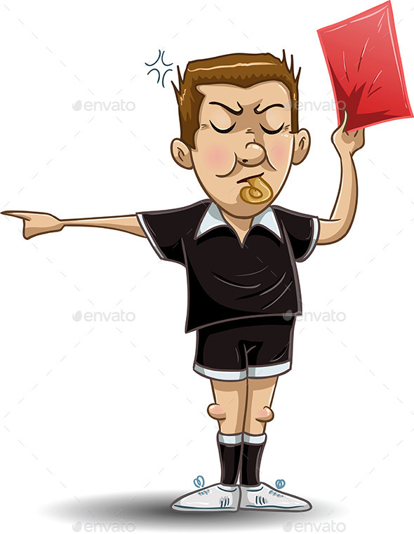 GraphicRiver Soccer Referee Holds Red Card 10734333
