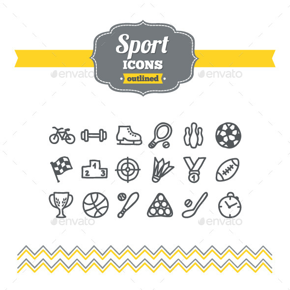 GraphicRiver Hand Drawn Sport Icons 10734434