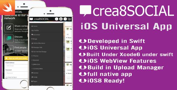 CodeCanyon crea8SOCIAL iOS App 10734549