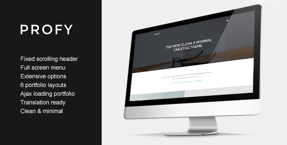 ThemeForest Profy Clean Ajax Powered Portfolio Theme 10621404