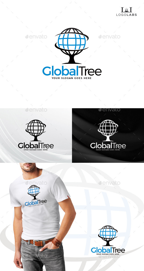 GraphicRiver Global Tree Logo 10734592