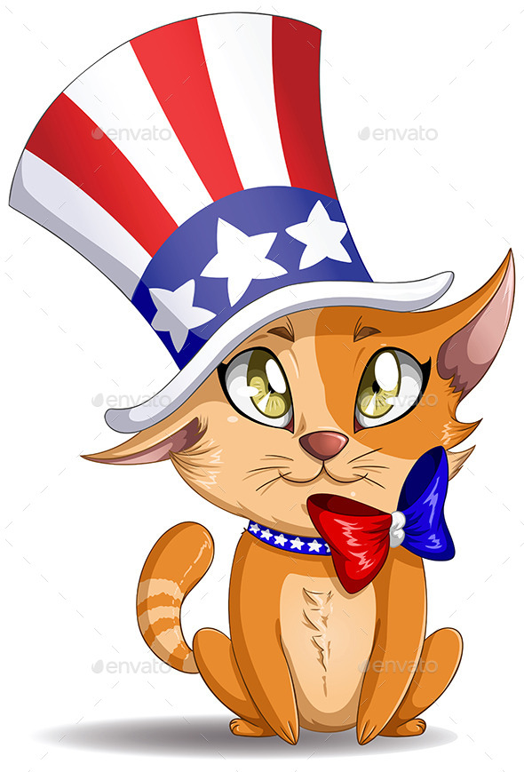 GraphicRiver Independence Day Kitten 10734596