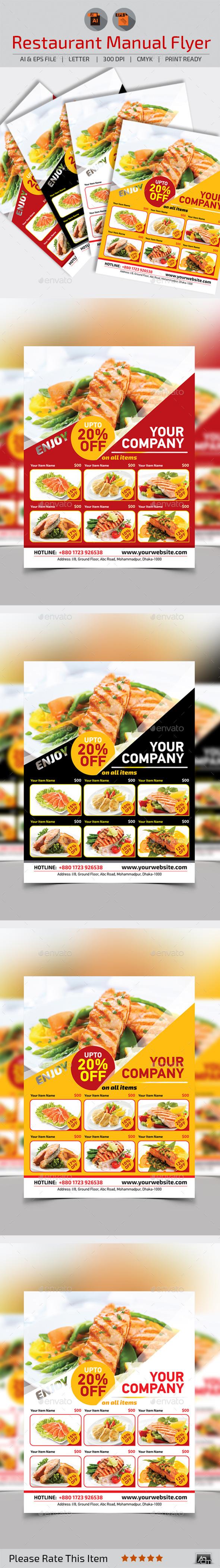 GraphicRiver Restaurant Food Menu Template 10734659