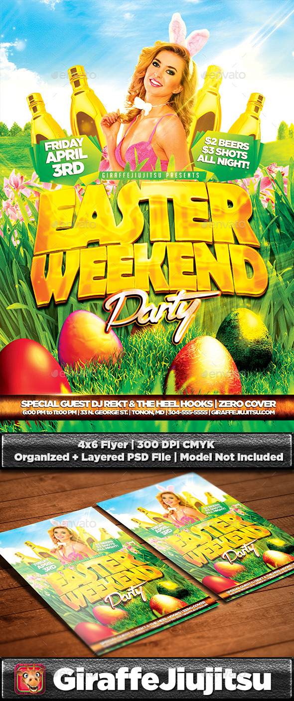 GraphicRiver Easter Weekend Party Flyer Template 10673586