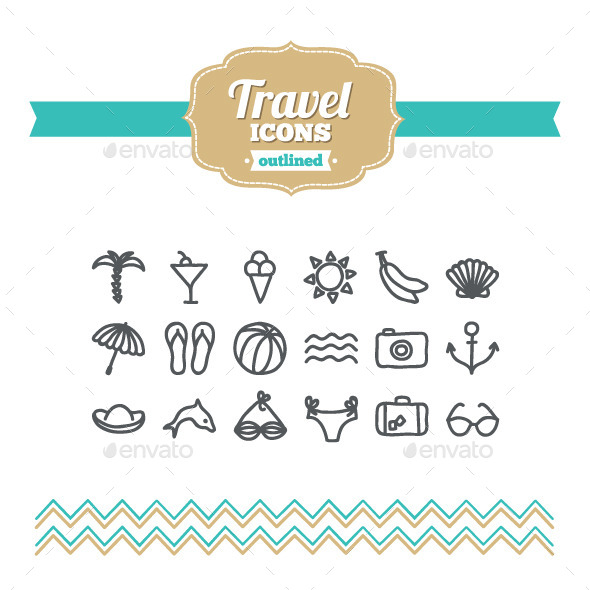 GraphicRiver Hand Drawn Travel Icons 10734790