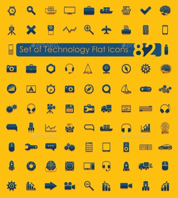 GraphicRiver Set of Technology Icons 10734791