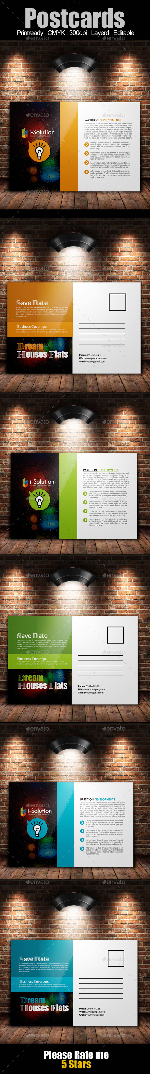 GraphicRiver Multi Use Business Post Cards Template 10734809