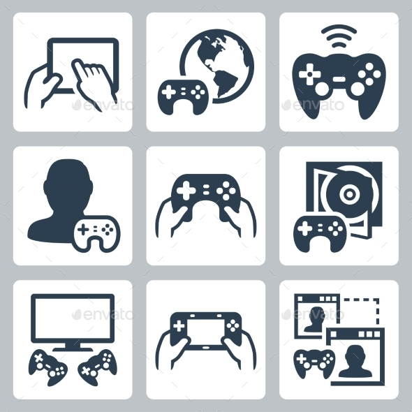 GraphicRiver Gaming Icons 10734860