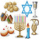 Hanukkah Symbols Pack - GraphicRiver Item for Sale
