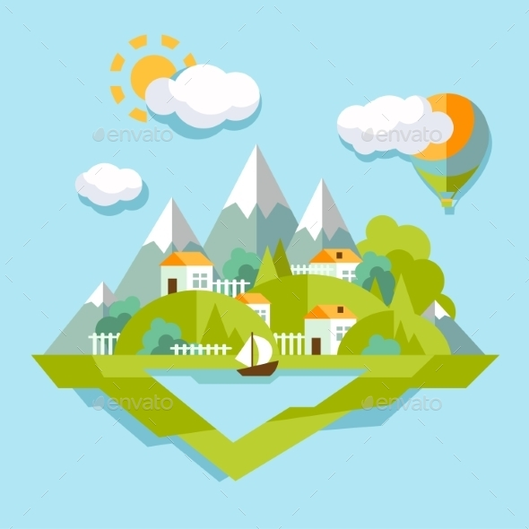 GraphicRiver Nature Landscape 10735089