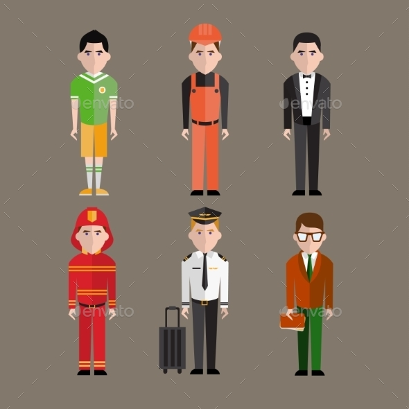 GraphicRiver People Professions Set 10735107