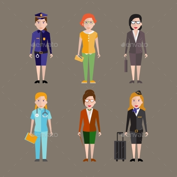 GraphicRiver People Professions Set 10735109