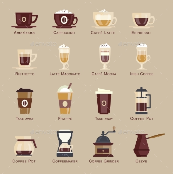 GraphicRiver Coffee Vector Icon Set Menu 10735338