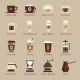Coffee Vector Icon Set Menu - GraphicRiver Item for Sale