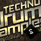 Techno Drum Samples - CD Cover Template - GraphicRiver Item for Sale