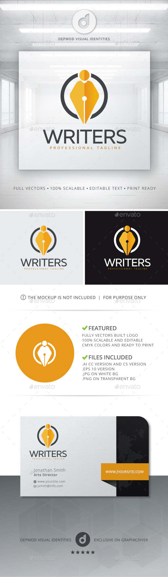 GraphicRiver Writers Logo 10717295