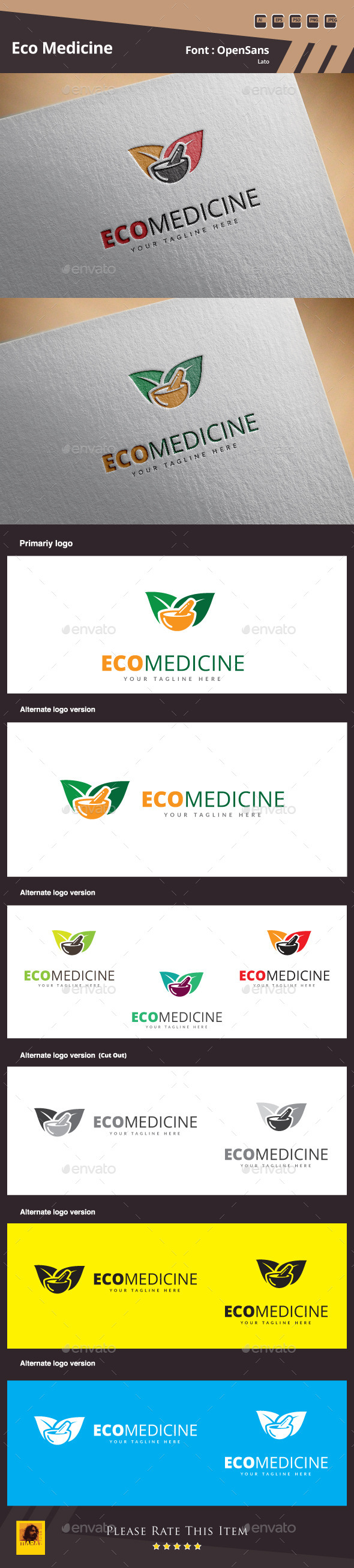 GraphicRiver Eco Medicine Logo Template 10735886
