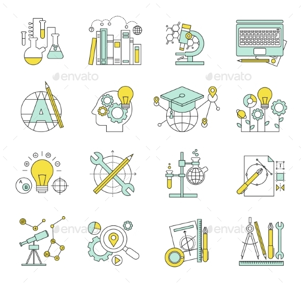 GraphicRiver Flat Design Concept Icons on Marketing Theme 10735946