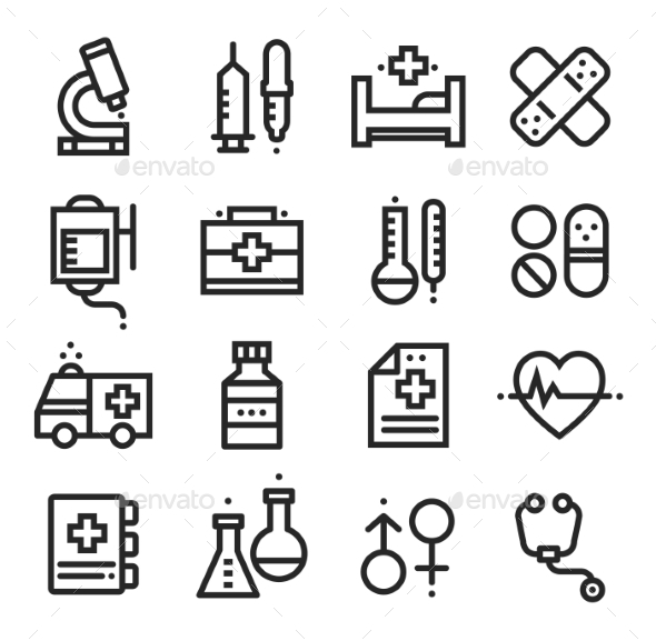 GraphicRiver Science and Medical Icons Stock Vector 10736023