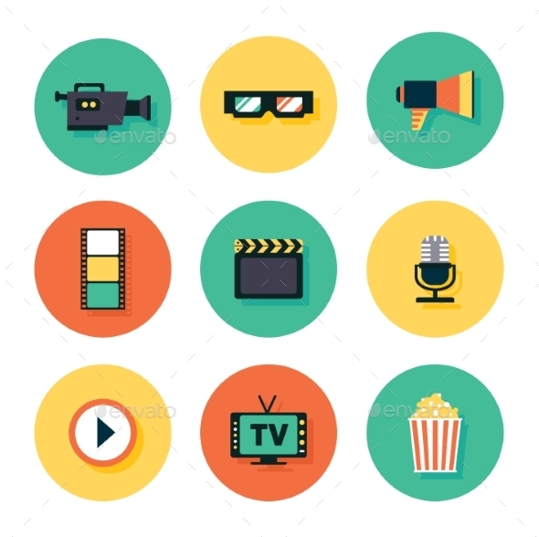 GraphicRiver Movie Icon Set 10736028