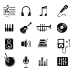 Music and Multimedia Icons, Vector - GraphicRiver Item for Sale