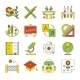 School, Education Icons - GraphicRiver Item for Sale