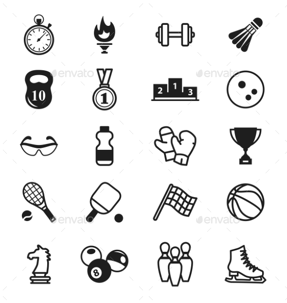 GraphicRiver Sports Icons Items Inventory 10736045