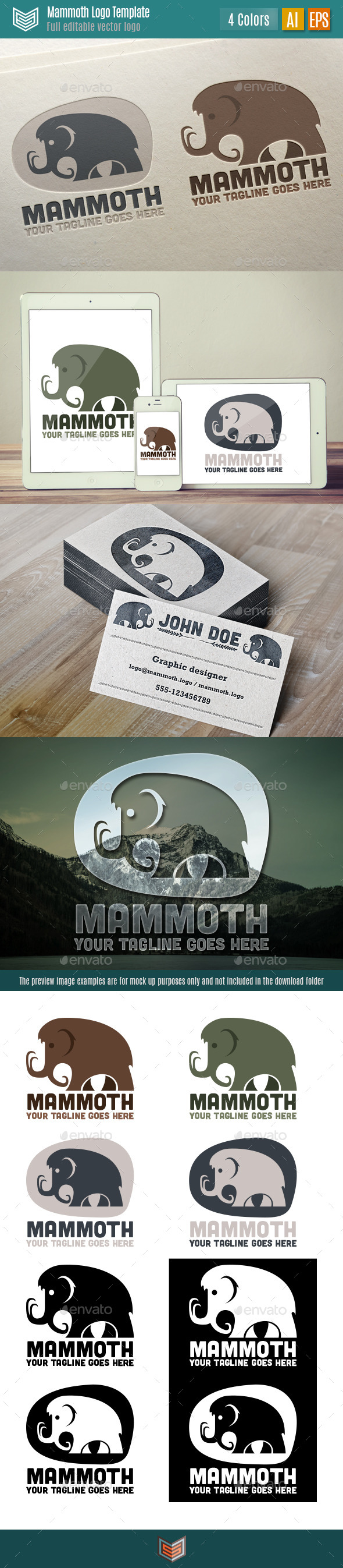 GraphicRiver Mammoth Logo 10736046