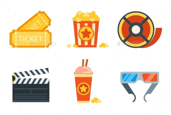 GraphicRiver Flat Icons Set of Professional Film Production Mo 10736090