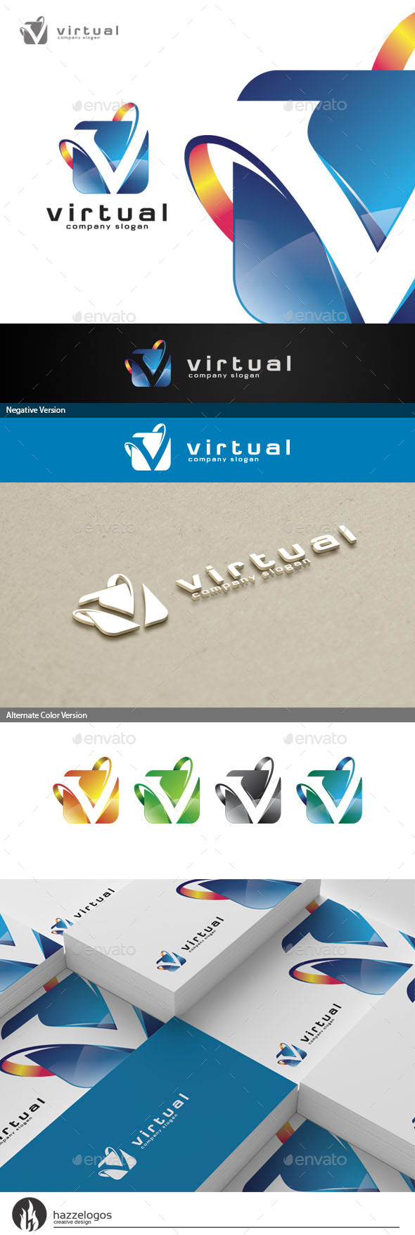 GraphicRiver Virtual Logo 10736092