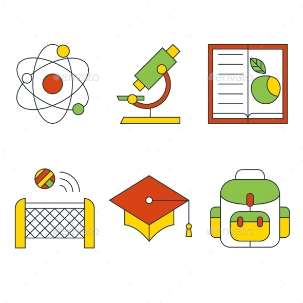 GraphicRiver Vector Education and Science Concept Flat Design 10736138