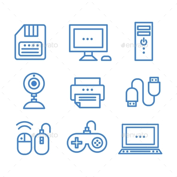 GraphicRiver Technology Icons 10736153