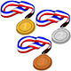 First Second and Third Place Medals Pack - GraphicRiver Item for Sale