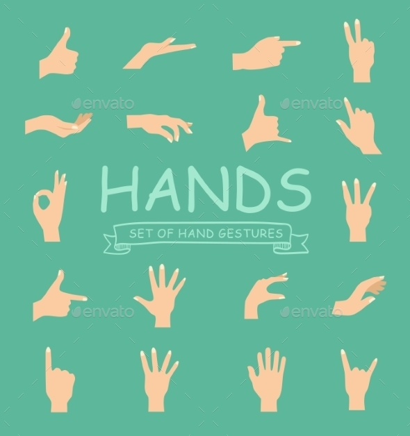 GraphicRiver Hand Vector Collection 10736167