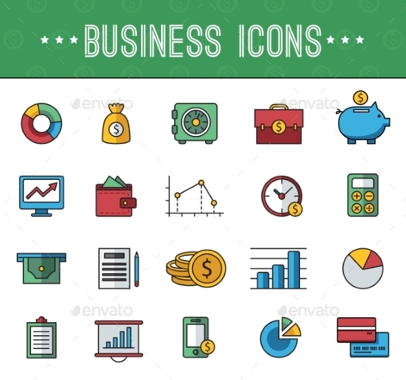 GraphicRiver Banking Icons 10736240
