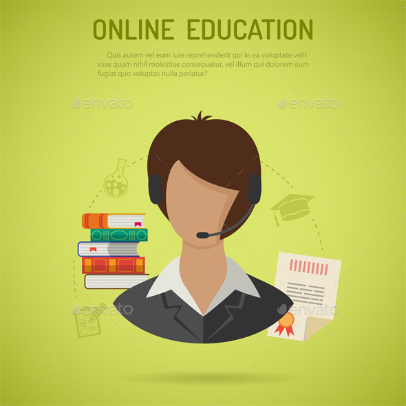 GraphicRiver Online Education Concept 10736247