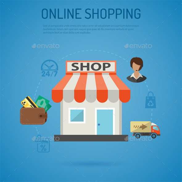 GraphicRiver Internet Shopping Poster 10736262