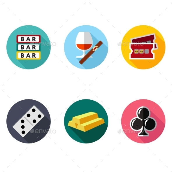 GraphicRiver Vector Slot Machine Symbols Set 10736299