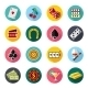 Colorful Flat Vector Icons Set - GraphicRiver Item for Sale