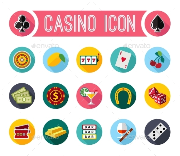 GraphicRiver Vector Slot Machine Symbols Set 10736317