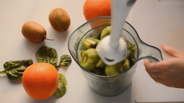 VideoHive Making A Smoothie With A Blender 10736392