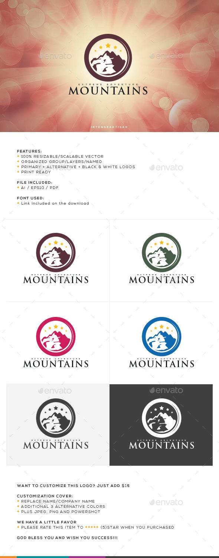 GraphicRiver Mountain V.2 Logo Template 10736396