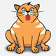 Ginger Cat Licking Screen - VideoHive Item for Sale