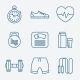 Set of Outline Stroke Fitness Icons Vector Illustr - GraphicRiver Item for Sale