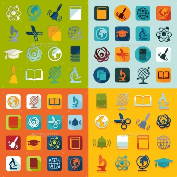 GraphicRiver Set of Education Icons 10736444
